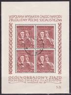 POLAND 1951 MI BL 12 USED VF - Blocs & Feuillets