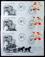 Denmark 1999  ATM/Frama Labels  MiNr.8-10   FDC  ( Lot  6548 ) FOGHS COVER - FDC