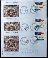 Denmark 2000  ATM/Frama Labels  MiNr.11-13   FDC  ( Lot  6548 ) FOGHS COVER - FDC