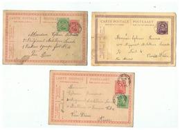 CARTES  POSTALES CORRESPONDANCE MILITAIRE DEPART CACHETS FONTAINE VALMONT (BELGIQUE)   POUR VIEU DIEU ANVERS - 1914-18