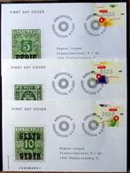 Denmark 2001  ATM/Frama Labels  MiNr.14-16  FDC  ( Lot  6548 ) FOGHS COVER - FDC