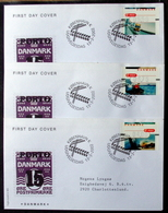 Denmark 2002  ATM/Frama Labels  MiNr.17-19  FDC  ( Lot  6548 ) FOGHS COVER - FDC