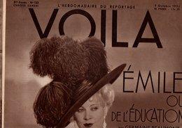 VOILA N°133 DU 7 OCTOBRE 1933 - EMILE OU DE L'EDUCATION - MA BELLE MARSEILLE - Journaux - Quotidiens