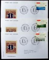 Denmark 2004  ATM/Frama Labels  MiNr.23-25 FDC  ( Lot  6548 ) FOGHS COVER - FDC