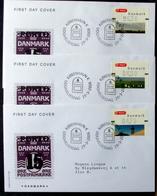 Denmark 2006  ATM/Frama Labels  MiNr.29-31 FDC  ( Lot  6548 ) FOGHS COVER - FDC