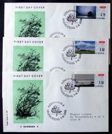 Denmark 2006  ATM/Frama Labels  MiNr.32-34 FDC  ( Lot  6548 ) FOGHS COVER - FDC