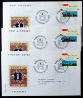 Denmark 2007  ATM/Frama Labels  MiNr.35-37 FDC  ( Lot  6548 ) FOGHS COVER - FDC