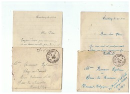 CORRESPONDANCE MILITAIRE  POUR  SARS - LA - BUISSIERE (BELGIQUE) - 1914-18