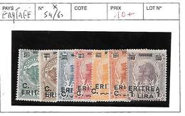 ERYTHREE N° 54/60 * - Erythrée
