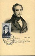 39965 Italia,maximum 1952  Music Composer  Vincenzo Bellini, Postmark Catania 16.4.1952 - Music