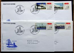Denmark 2008  ATM/Frama Labels  MiNr.42-45 FDC  ( Lot  6548 ) FOGHS COVER - FDC