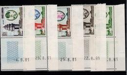 Cambodge - YV 110 & 111 + PA 15 à 17 N** En Petits Coins Daté Monument De L'indépendance - Cambodge