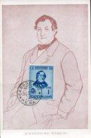 39966 Italia,maximum 1943  Music Composer  Gioacchino Rossini, Postmark Pesaro - Music