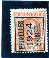 B - 1924 Belgio -  Soprastampati - 1922-1927 Houyoux