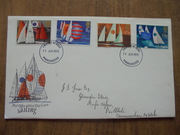 S061: FDC: SAILING. Post Office First Day Cover. 7p, 8p, 10p, 12p. 11 JUN 1975 FIRST DAY OF ISSUE. - FDC