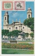 AK Montevideo Catedral Plaza Constitucion Uruguay Uruguai Briefmarke Timbre Stamp Sello Estampilla Selo America Del Sur - Uruguay