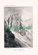 001 E.T.Compton Fünffingerspitze Dolomiten Kunstblatt Autotypie 1895 !! - Prints