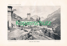 010 E.T.Compton Gromo Valle Seriana Kunstblatt Druck 1897 !! - Prints