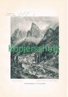 014 E.T.Compton Hinterbärenbad Kaisertal Kunstblatt Druck 1897 !! - Prints