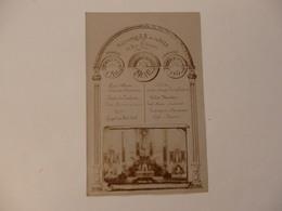 Carte Photo Du Menu De La 1ére Communion Du Pensionnat J&B De La Salle 84, Rue Saint-Gervais à Rouen  En 1913. - Rouen