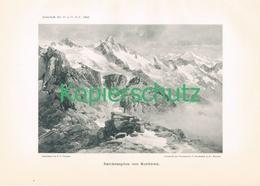 015 E.T.Compton Reichenspitze Kunstblatt Druck 1897 !! - Prints