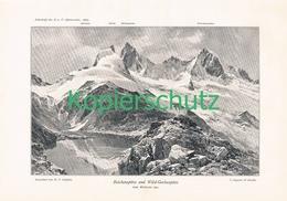 016 E.T.Compton Reichenspitze Gerlosspitze Kunstblatt Druck 1897 !! - Prints