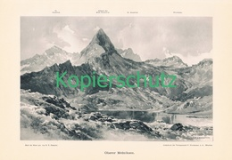 020 E.T.Compton Melniksee Sonnblick Kunstblatt Druck 1898 !! - Prints