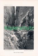 023 E.T.Compton Dolomiten Rosengarten Kunstblatt Druck 1899!! - Prints