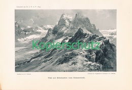027 E.T.Compton Tödi Bergsteiger Panorama Lichtdruck 1899 !! - Prints