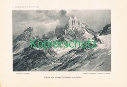 028 E.T.Compton Windgälle Panorama Lichtdruck 1899 !! - Prints
