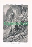 033 E.T.Compton Latemartürme Bergsteiger Druck 1900 !! - Prints