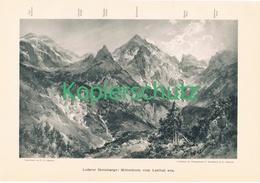 034 E.T.Compton Loferer Steinberge Panorama  Druck 1900 !! - Prints