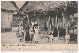CE5 - HONDURAS  -  WATER CARRIERS  SAN PEDRO  -  ENFANTS PORTEURS D ' EAU  -    2 SCANS - Honduras