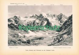 038 E.T.Compton Texelgruppe Personen Panorama Druck 1901!! - Prints