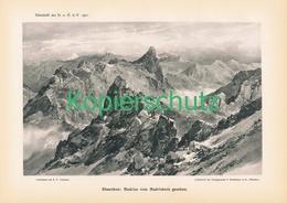 039-2 E.T.Compton Madrisa Panorama Berge Druck 1901 !! - Prints