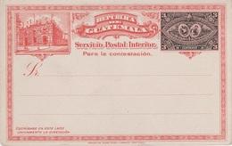 Litho AK Republica De Guatemala Servicio Postal Interior Correos Nacionales Ganzsache Entier Postal Stationery America - Guatemala