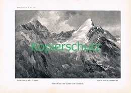 040-2 E.T.Compton Hohe Weisse Lodner Panorama Druck 1901 !! - Prints