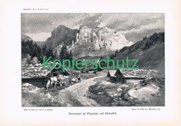 041-2 E.T.Compton Partnuntal Alm Alpe Berge Druck 1901 !! - Prints