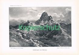 044-2 E.T.Compton Schlenkerspitze Lechtaler Druck 1901 !! - Prints