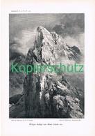 046-2 E.T.Compton Wolayer Seekopf Monte Canale Druck 1901 !! - Prints