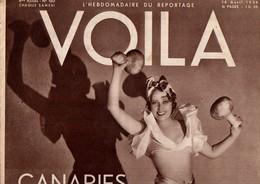 VOILA N°160 DU 16 AVRIL1934 - CANARIES...CIEL SEREIN - DEUX SOUS DE DLEURS - Journaux - Quotidiens