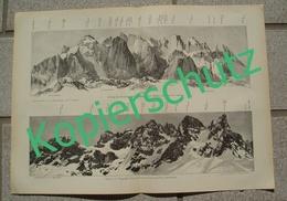 047-3 Druck E.T.Compton Palagruppe Panorama Druck 1903 !! - Prints
