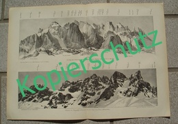 047-3 Druck E.T.Compton Palagruppe Panorama Druck 1903 !! - Stampe