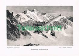048-2 E.T.Compton Mischabelgruppe Strahlhorn Druck 1903 !! - Prints