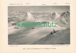 051-3 E.T.Compton Allalin-Strahl-Rimpfischhorn Druck 1903 !! - Prints
