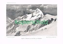 052 E.T.Compton Aiguille Bionnassay Bergsteiger Druck 1904 !! - Prints