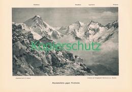 054 E.T.Compton Mischabelhütte Bergsteiger Druck 1904 !! - Prints