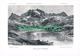 055 E.T.Compton Zürsersee Wildgruppe Druck 1905 !! - Prints