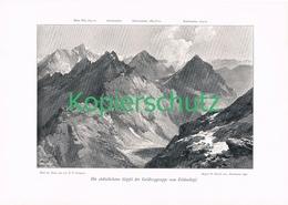 059 E.T.Compton Goldberggruppe Panorama Druck 1902 !! - Prints