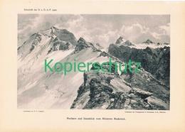 061 E.T.Compton Sonnblick Hocharn Kunstblatt Druck 1902 !! - Prints